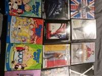 for sale is a lot of DVD's.  I am willing to sell these
