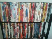 I'm selling my collection of DVDs for $4 each, if you