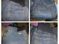 3 pairs of Duo maternity jeans size XL 1 pair of black