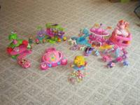 This is a lot of a variety of girl toys. From a clean