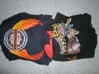 Ten Harley Davidson Shirts They range from old to