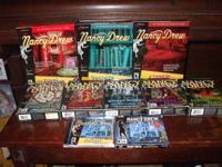 For sale are 9 Nancy Drew video games. Six of them are