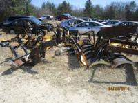 We have numerous plows with and without frames. We will