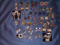 Georgeous Lot Of Vintage Clip Earrings. All are in