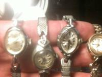 Lot of 8 old vintage watches Elgin timex Louis ect for