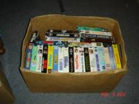 I have a large lot of VHS tapes for sale. Altogether I