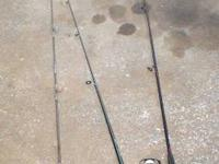 Lot of 3 Fishing Poles and reels -- Zebco, Silstar,
