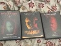 I have 3 Hellraiser DVD's that I am selling as a lot