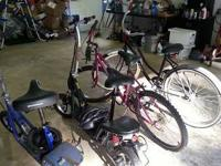 For Sale, two Schwinn electric scooters and two bikes,