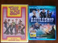 Lot of 19 dvds, 1 bluray movie, and 3 seasons... -The