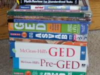 Hello, For Sale is a lot of GED study books This lot