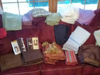 LOTS OF CURTAINS HERE, ALL IN EXCELLENT CONDITION, SOME