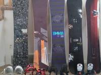 Boards and bindings for sale  from left to right