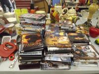 We have lots of CDs DVDs games & more! Don't miss out!