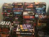 Lots of read used fantasy books. Some are in amazing