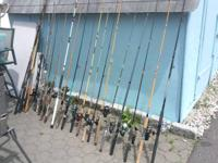 Im selling over 20 fishing rods and reels. All made use