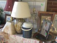 Prices Below: 1. $10.00 - LARGE GLASS CLEAR LAMP (NO