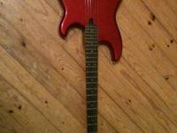 1980s Yamaha electric guitar, solid and very heavy.