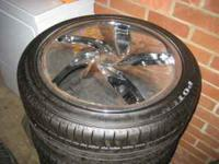 4 tires and wheels 225/45/R18 on 5 lug rims brand new.