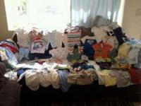 I have a lot of baby boy clothes over 75 pieces my boy