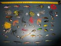 SPINNERS, MINNOWS, CRANK BAITS AND A FEW HUGE LURES.