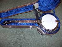 This is my brother in-law's banjo that he purchased new