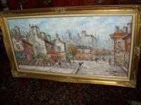 Original framed Louis Charles Basset - L.Basset - Oil