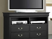 LOUIS PHILIPPE TV CHEST *Made of solids and veneers