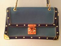 LOUIS VUITTON Blue Suhali Leather *Le Talentueux* Gold