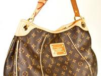 Louis Vuitton Monogrammed Canvas Natural leather