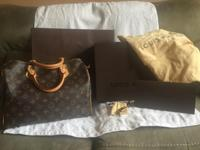 Selling my authentic Louis Vuitton speedy 30! Bought it