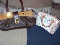I HAVE 2 LOUIS VUITTON PURSES THE WHITE ONE IS REAL THE
