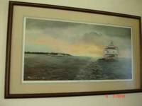 "Louise Booth Signed Painting from 1987 Titled "" Tonging"