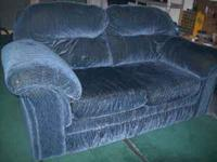 Nice looking Blue Love seat about 5yrs old, still looks