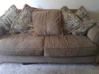 Super comfy brown loveseat in great condition! The