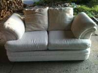 This is a love seat only. Sold the sofa. Cream with