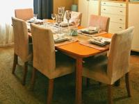 I have for sale an Ikea Forshed solid wood dining room