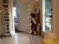 This is a beautiful lamp floor lamp with glass balls.