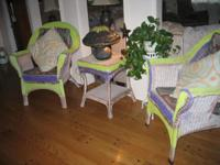 $295.00 FOR THE FULL SET. 2 LARGE CHAIRS, SIDE TABLE