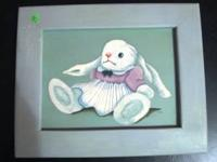"Lovely Wall Pictures of Rabbits $9 Both measure 13"" x"