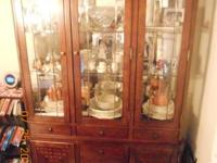 Absolutely beautiful Solid Cherry Wood China Cabinet