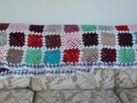 Colorful vintage afghan. This was made for me by my