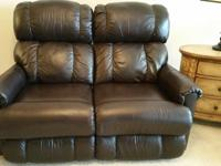 La-Z-Boy's Pinnacle, Full Leather Reclining Loveseat,