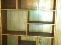 Oak book case. 6 ft tall by 5 ft wide by 16 inches