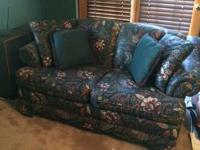 Loveseat and Matching Queen Size Coverlet.  Cash only.