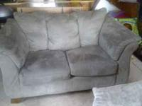Microfiber Loveseat & Couch Great condition except a