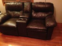 Lane Touchdown Double Reclining Console Sofa/Love Seat,