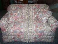 I have a loveseat and matching chair for sale,excellent