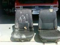 1968 FACTORY BUCKET SEATS FOR NOVA, CHEVELLE, PONTIAC,