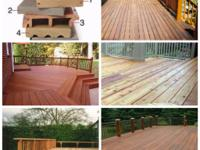 We offer many deck material options such as IPE,